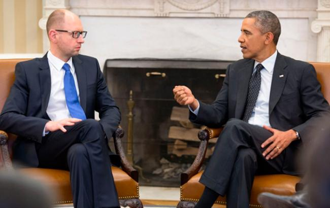 Фото: Яценюк и Обама