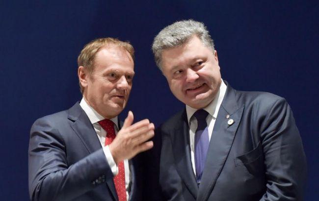 Туск розповів Порошенко про результати зустрічі G7