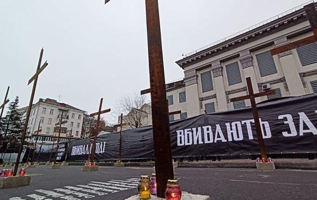 У Києві Нацкорпус провів акцію пам'яті жертв Голодомору