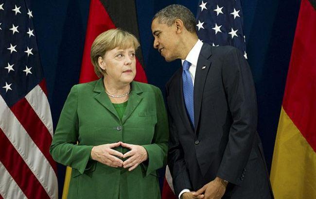 Фото: Барак Обама и Ангела Меркель