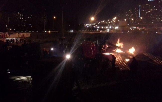 В Киеве на месте застройки произошла потасовка, ранен милиционер