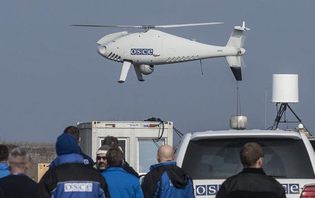 """Над окупованою територією Донбасу """"глушили"""" безпілотник місії ОБСЄ"""