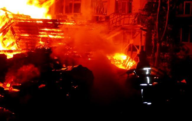 Фото: пожар в детском лагере Одессы (dsns.gov.ua)