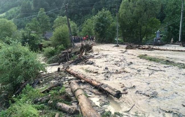 Фото: селевые потоки в Карпатах