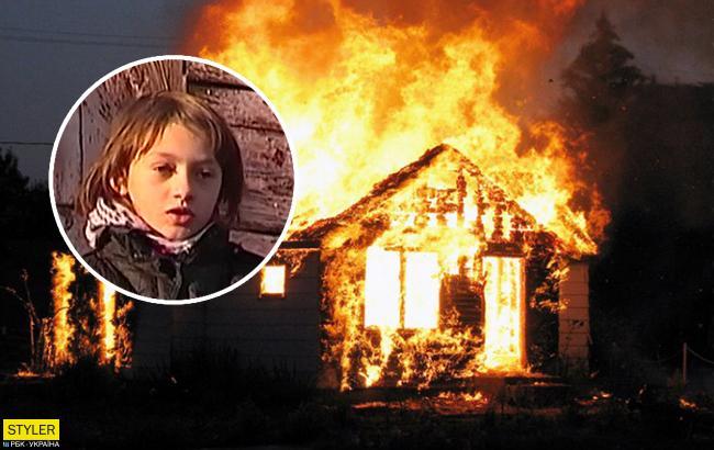 Украинцам рассказали о девочке-героине, спасшей из огня четверых детей