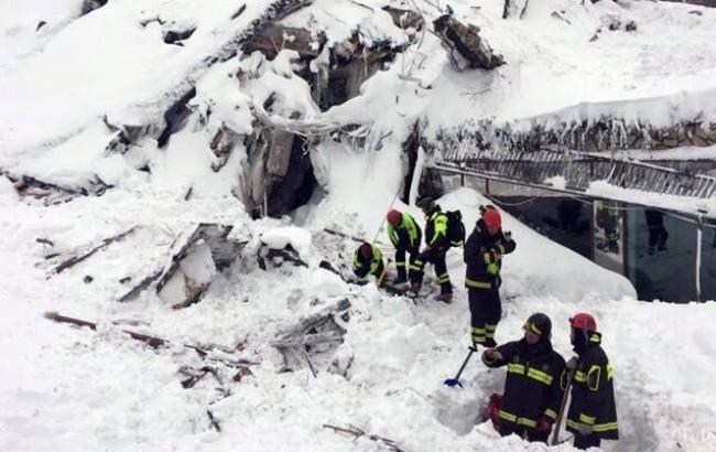Число погибших схода лавины вИталии возросло до 17 человек