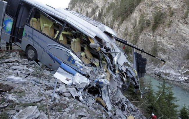 Автобус упал вущелье насевере Перу