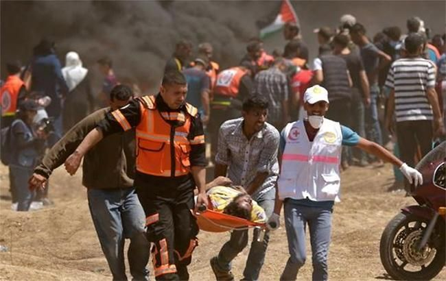 Фото: протести в секторі Газа (twitter.com-Trkish6)