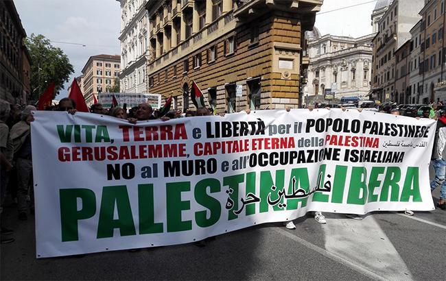 Фото: протесты в Палестине (twitter.com/FraSellari)