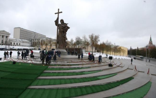 Фото: Пам'ятник Володимиру в Москві (bbc.com)