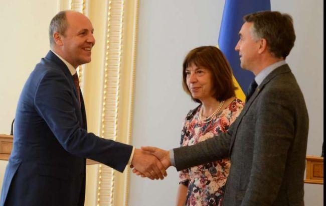 Фото: зустріч Андрія Парубія з європарламентарями (прес-служба ВРУ)