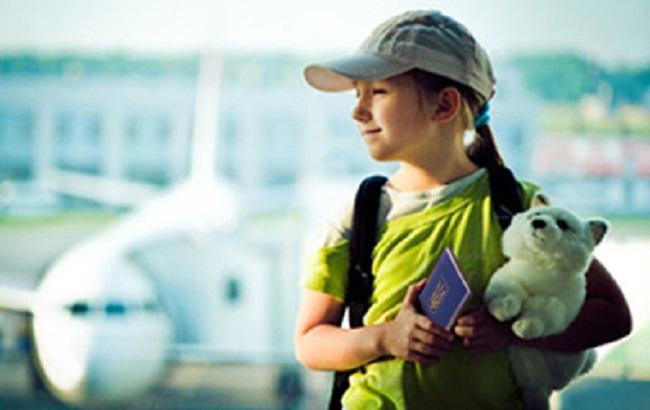 Фото: діти на кордоні