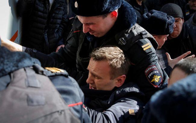 Фото: задержание Алексея Навального