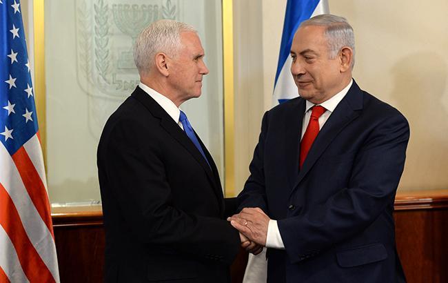 Фото: Майк Пенс и Биньямин Нетаньяху (wikipedia.org)