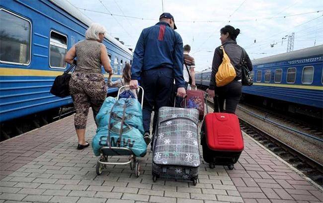 Фото: переселенцы с Донбасса