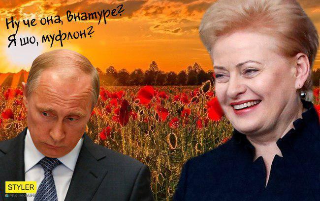 """""""Блатной"""" Путин обиделся на президента Литвы"""