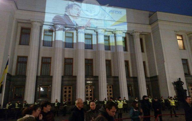 Акция под Радой продлится доноября,— Саакашвили