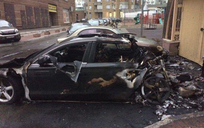 Экс-министр Пивоварский подтвердил, что в Киеве сгорела машина его водителя