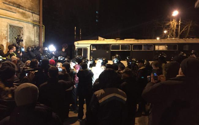 Фото: сторонники Саакашвили (РБК-Украина)