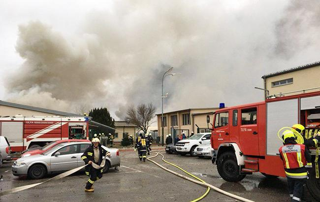Фото: вибух на газопроводі в Австрії (utg.ua)