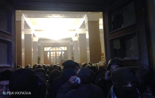 Митинг в Киеве: под Октябрьским дворцом произошли новые столкновения