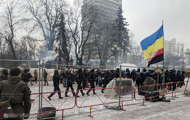 Под Радой произошли столкновения протестующих с полицией