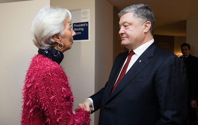 Порошенко планує провести переговори з головою МВФ
