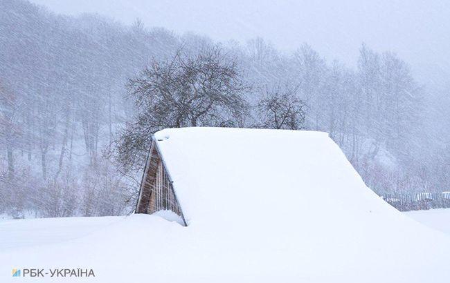 У Карпатах висота снігового покриву складає до 60 см