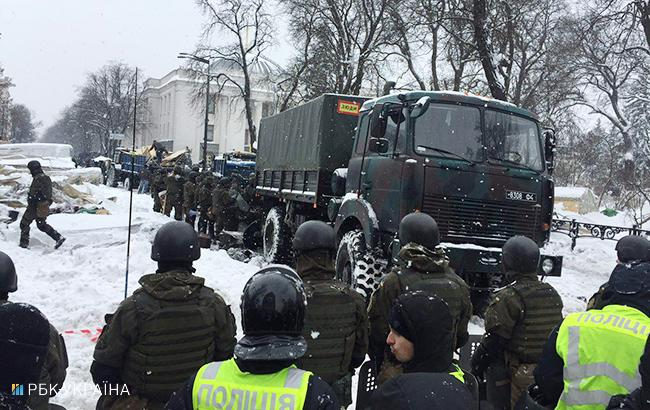 Розгін наметового містечка під ВР: кількість затриманих зросла до 101