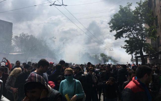 Фото: протести в Єревані (facebook.com/iazar)