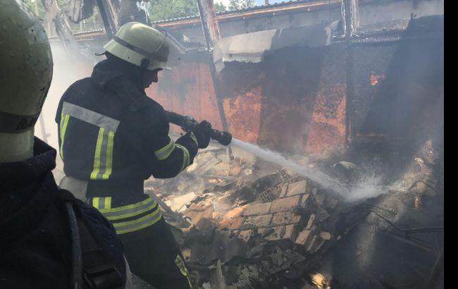 ВКиеве наГидропарке вспыхнул пожар