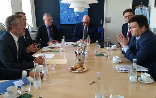 Фото: візит Клімкіна до Данії (twitter.com/MFA_Ukraine)