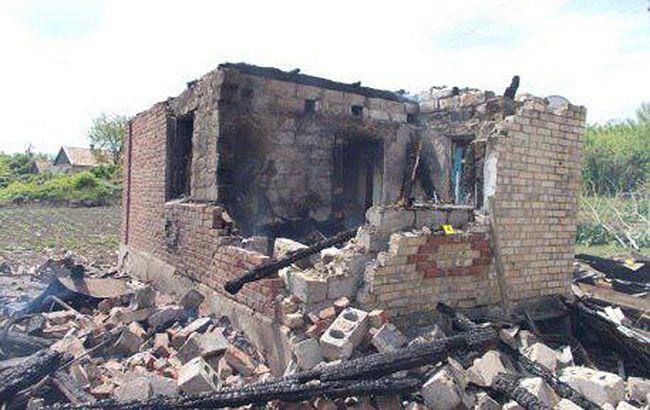 Фото: боевики обстреляли населенный пункт Николаевка-2 (gp.gov.ua)