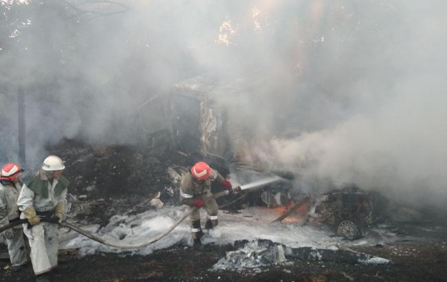 Фото: последствия аварии (dsns.gov.ua)