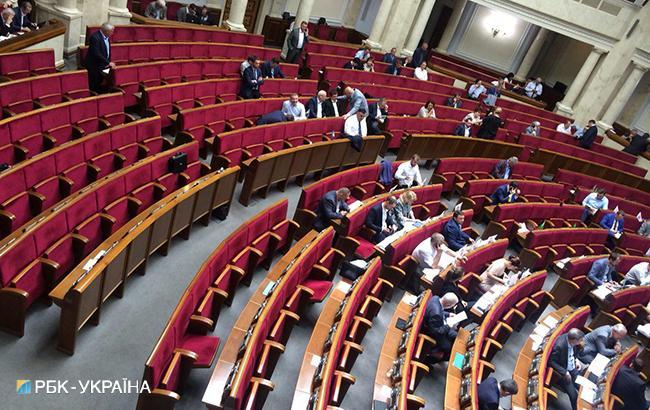 Рада рассматривала поправки к законопроекту о пропавших без вести в пустом зале