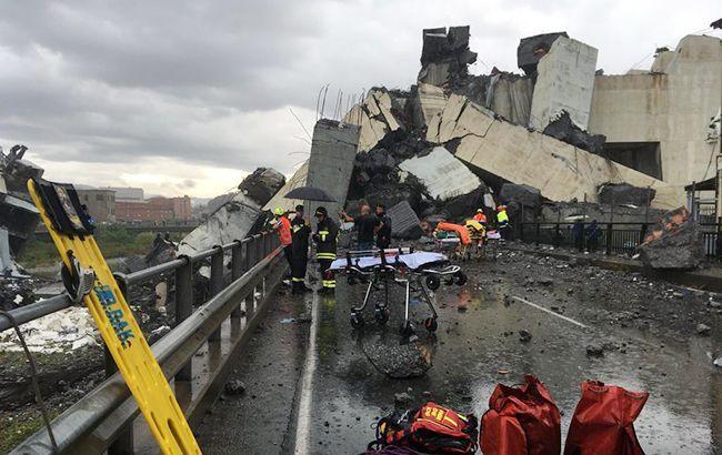 Двоє українців постраждали при обваленні мосту в Генуї