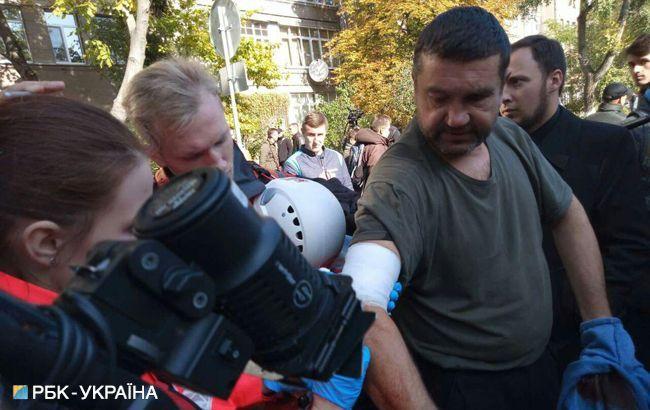 Фото: столкновения под МВД (РБК-Украина)