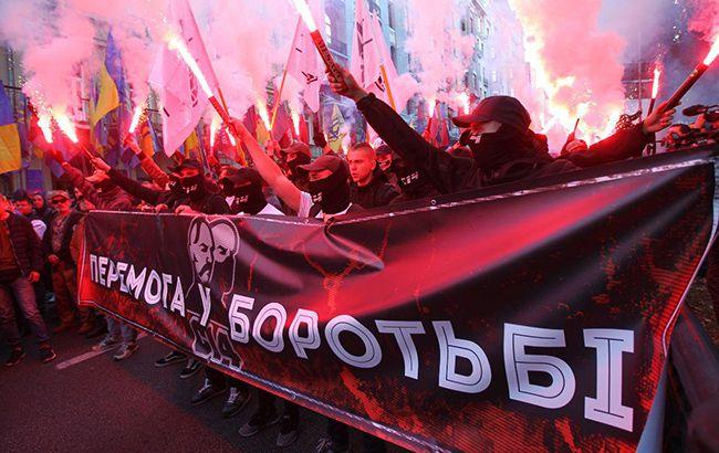 В Киеве прошел марш националистов (фоторепортаж)