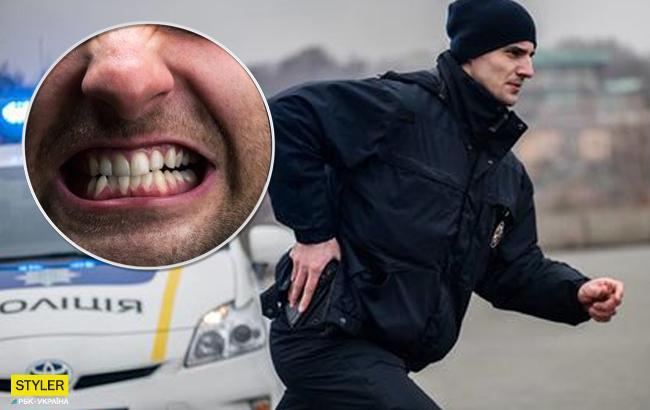 У Києві чоловік при затриманні побив і покусав патрульних