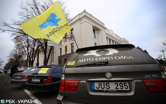 """Владельцы """"евроблях"""" приостановили протесты"""