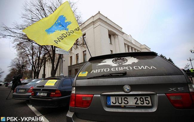 В Украине из-за протестов перекрыты дороги в 7 областях