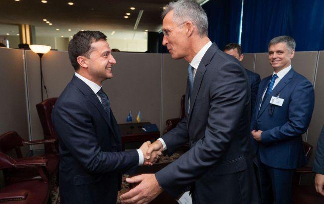 Зеленський зустрівся з генсекретарем НАТО