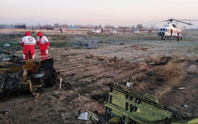 Спасатели опубликовали видео с места атаки на украинский самолет в Иране