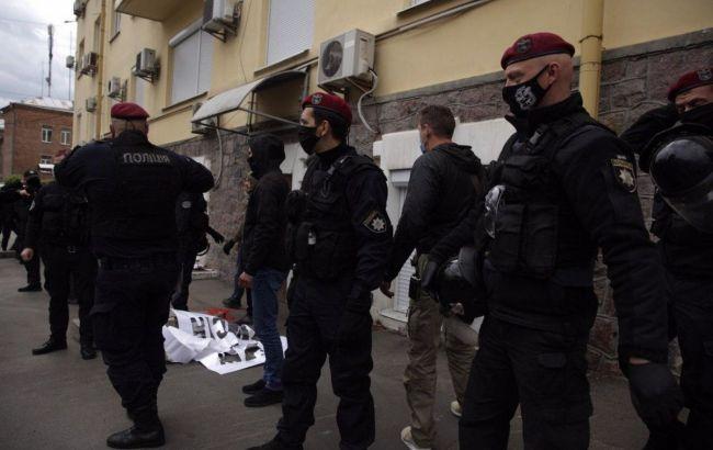 Поліція порушила справу після подій біля офісу Медведчука у Києві
