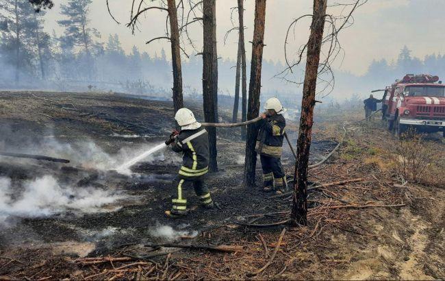 Спасатели ликвидировали один из очагов пожаров в Луганской области