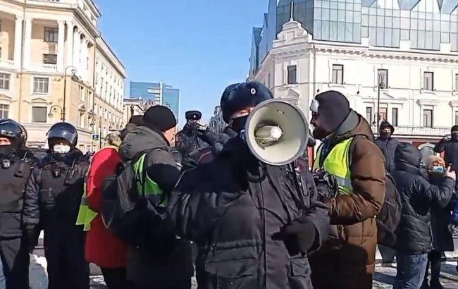 ОМОН, хороводи і більше сотні затриманих: в Росії почалися протести за Навального