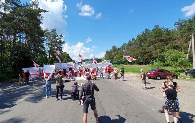 Білоруси в Україні влаштували протести на кордоні: як проходять акції