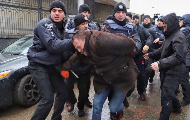 В Одессе задержали участников акции в поддержку пленных моряков