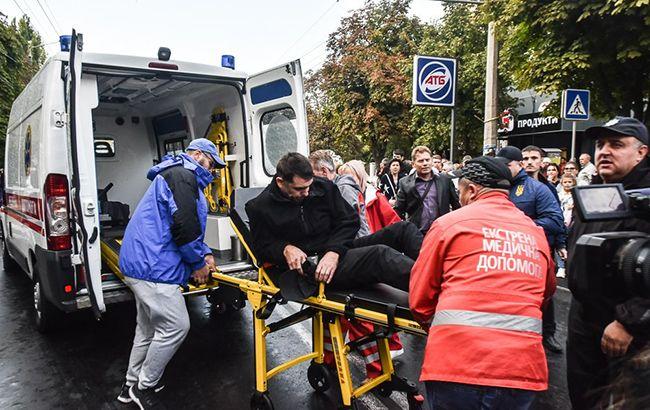 В Одессе автомобиль въехал в толпу протестующих, есть пострадавшие