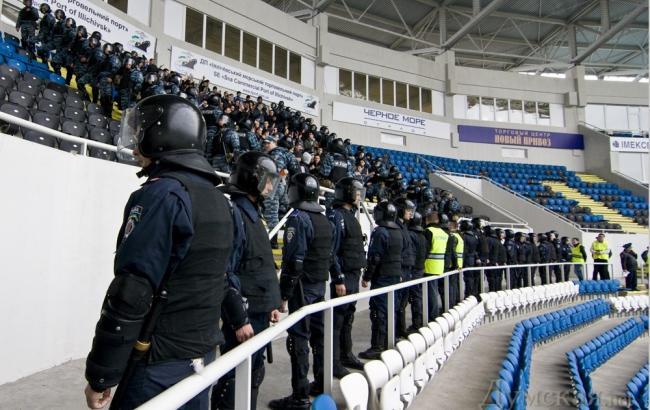 Фото: міліція на стадіонах